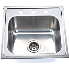 "20"" x 20"" Topmount Single Bowl Bar Sink"