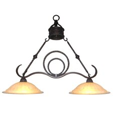 Isabella 2 Light Kitchen Island Pendant