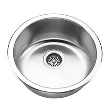 "18.5"" x 18.5"" Round Undermount Bar Sink"