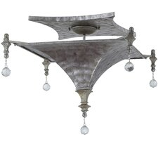 Capiz 3 Light Semi-Flush Mount