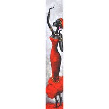Lady in Red I Canvas Art