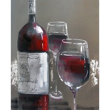Revealed Artwork Wine and Two Glasses III Wall Art