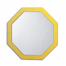 Framed Hexagon Mirror