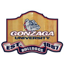 University of Gonzaga Wood Sign
