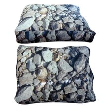 Rectangle Hard Rocks Dog Bed
