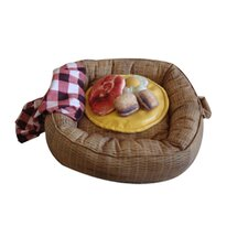 Picnic Basket Dog Bed and Toys Set