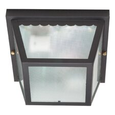 Carport 2 Light Flush Mount