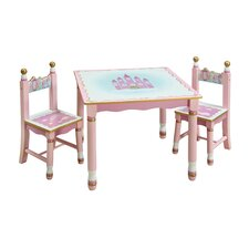 Princess Kids' 3 Piece Table and Chair Set