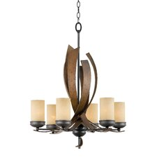 Recycled Aizen 6 Light Chandelier