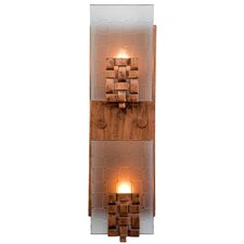 Dreamweaver 2 Light Vertical Recycled Wall Sconce