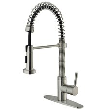 One Handle Single Hole Bar Faucet with Deck Plate and Pull-Out Spray