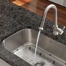 One Handle Single Hole Pull Out Spray Kitchen Faucet