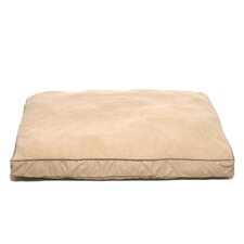Four Season Pet Bed with Cashmere Berber Top in Khaki with Sage Cording
