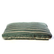 Indoor/Outdoor Striped Dog Bed in Green