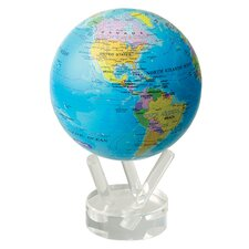 "4.5"" Blue Oceans with Political Map Globe"