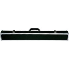 "32"" 2/4 Box Pool Cue Case in Black / Silver"