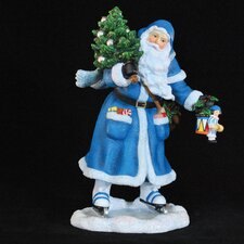 """Joy of Skating Santa"" Limited Edition Santa Skating Figurine"