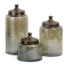 Round Luster Canister (Set of 3)