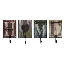 Casa 4 Piece Coat Hook Set