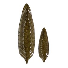 2 Piece Rona Leaf Plate Set