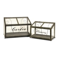 Tavares Two Piece Metal Greenhouse Set