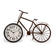 Higdon Bicycle Clock in Rustic