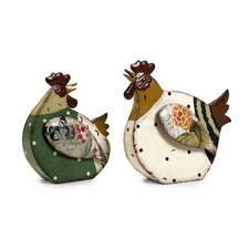 Rosalea Roosters Figurine (Set of 2)