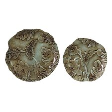 Turqoise Antique Platters (Set of 2)