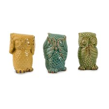 Wise Owls (Set of 3)