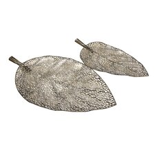 Elise Cutwork Leaf Trays (Set of 2)