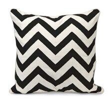 Chevron Embroidered Cotton Pillow