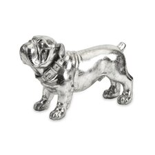 Maximus Stick Silver Dog Statue