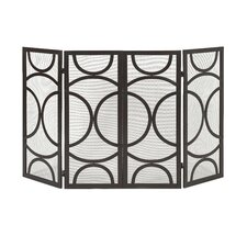 Winnoa 4 Panel Iron Fireplace Screen
