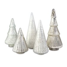 Woodland Mercury Glass Tree (Set of 5)