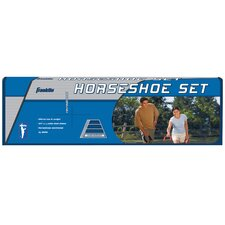 Outdoor Games Recreational Steel Horseshoes Game Set