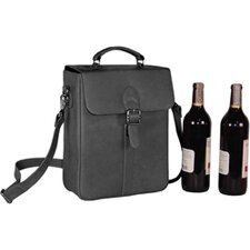 Structured Double Wine Bottle Carrier
