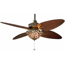 Amber and Brown Mosaic Ceiling Fan Glass Bowl Shade