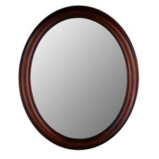 Premier Series Oval Mirror in Mahogany