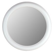 Round Mirror in Floral White