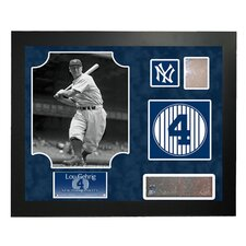 MLB Retired Number Lou Gehrig Framed Collage - New York Yankees