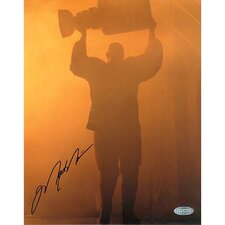 NHL Mark Messier Oilers Retirement Night Entering Through Smoke with Stanley Cup Photograph