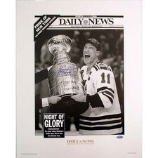 NHL Mark Messier Replica Daily News Cover 94 Cup Photograph