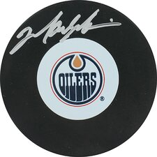 Mark Messier Oilers Autograph Puck