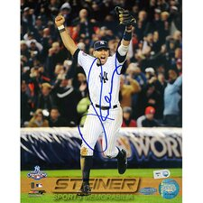 Alex Rodriguez 2009 WS Running on the Field Celebration Vertical Autographed