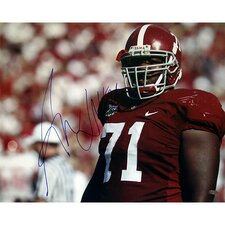 NFL Andre Smith Alabama Close Up Horizontal Autographed