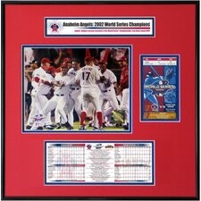MLB 2002 World Series Ticket Frame Jr. - Team Celebration - Anaheim Angels