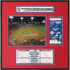 MLB 2004 World Series Ticket Frame Jr. - Game 1 Opening Ceremony - Fenway Park - Boston Red Sox