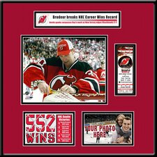 NHL Martin Brodeur Most Career Wins Ticket Frame - Cutting the Net - New Jersey Devils