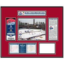 NHL Winter Classic Ticket Frame - Wrigley Field - Chicago Blackhawks