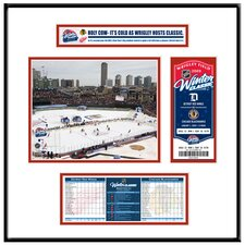 NHL Winter Classic Ticket Frame Jr. - Wrigley Field - Detroit Red Wings